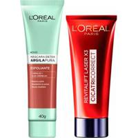 L'Oréal Paris Kit - Cicatri-Correct + Detox Argila Pura Esfoliante Kit - Unissex-Incolor
