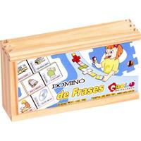 Jogo Educativo Carlu Brinquedos Domino Frases Branco