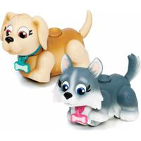 Mini Figuras - Pet Parade - Cachorrinhos Creme E C - Masculino-Incolor