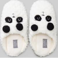 Pantufa Feminina Com Bordado Panda