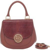Bolsa Smartbag Alça De Mão Lagarto Avelã - 73028.18