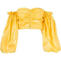 Rotate Blusa Phoebe Ombro A Ombro - Amarelo