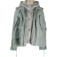 Yves Salomon Army Quilted Shearling Jacket - Verde