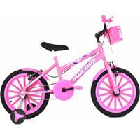 Bicicleta Infantil Aro 16 Com Adesivo De Brinde - Feminino