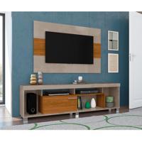 Rack Com Painel Para Tv Até 55 Polegadas Tomaz Fendi E Naturale