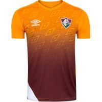 Camisa De Treino Do Fluminense 2020 Umbro - Masculina - Laranja/Branco