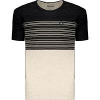 Camiseta Hd Stripes Masculina - Masculino-Bege