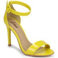 Sandália Salto Fino Lara Minimal Amarelo Amarelo
