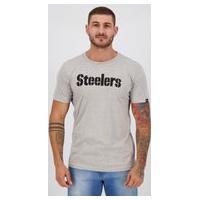 Camiseta New Era Nfl Pittsburgh Steelers Cinza Mescla