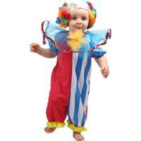 Fantasia Infantil Sulamericana - Palhaço Bebê - Tamanho P (1 Ano) - 10680 - Vermelho