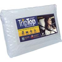 Travesseiro De Viagem 60X39X4 Fibrasca Trip Top Branco