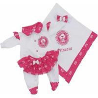 Kit Saída Maternidade I9 Baby Princesa Branca E Rosa