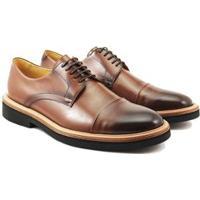 Sapato Social Couro Adolfo Turrion Confort Masculino - Masculino-Marrom