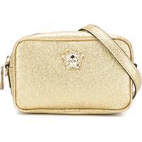 Young Versace Bolsa Tiracolo Com Logo - Dourado