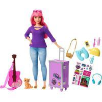 Boneca Barbie - Daisy Viajante Com Adesivos - Mattel Fwv26