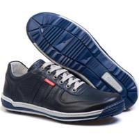 Sapatênis Casual Conforto Top Franca Shoes Masculino - Masculino-Preto