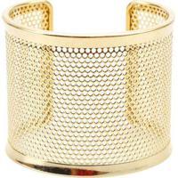 Pulseira Bracelete Com Textura De Furinhos Dourado