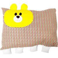 Travesseiro Colo De Mãe De Urso + Fronha Amarelo - Kanui