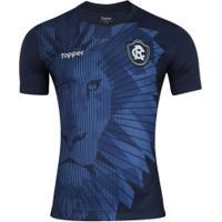 Camisa Do Remo Aquecimento 2018 Topper - Masculina - Azul Escuro