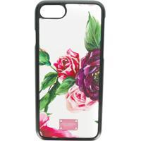 Dolce & Gabbana Capa Para Iphone 8 Floral De Couro - Estampado
