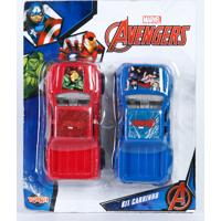 Brinquedo Kit 2 Carrinhos Os Vingadores Marvel Toyng