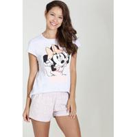 Pijama Short Doll Estampa Minnie Disney
