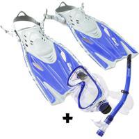 Kit De Mergulho Infantil Fun Dive Buzios + Nadadeira Dolphin