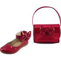 Sapatilha Infantil Itra Com Bolsa - Vermelha