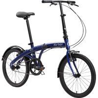Bicicleta Dobrável Aro 20'' E 1 Marcha Azul - Durban Eco