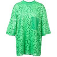Tibi Blusa Com Renda - Verde