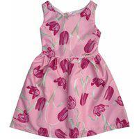Vestido Brubella Floral Pink E Rosa