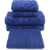 Jogo De Banho Buddemeyer 5Pçs Bristol Azul