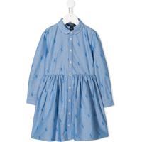 Ralph Lauren Kids Vestido Com Logo - Azul
