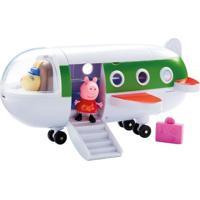 Veículo E Mini Figuras - Peppa Pig - Avião Da Peppa - Dtc - Unissex-Incolor