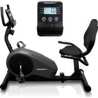 Bicicleta Ergométrica Horizontal Podiumfit H300 Magnética 8 Cargas Max150Kg - Unissex-Preto