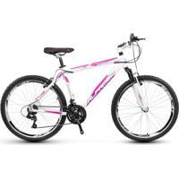 Bicicleta Alfameq Stroll Aro 26 Vbrake 21 Marchas Branco