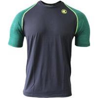 Camisa Esporte Legal Poliamida Uv45+ Raglan Mascu - Masculino-Preto+Verde