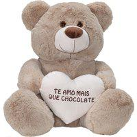 Urso Fofuxo Coração Frase Cinza M W.U