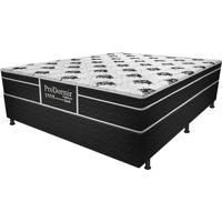 Cama Box Casal Dark - Probel - Branco / Preto