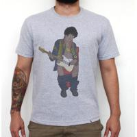Jimi In Bathroom - Camiseta Clássica Masculina