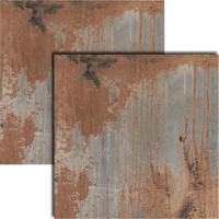 Porcelanato Aço Oxidado Acetinado Retificado 80X80Cm - 8660 - Ceusa - Ceusa