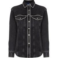 Simon Miller Camisa Jeans Western - Cinza