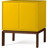 Adega Quartzo 2 Portas Cor Cacau Com Amarelo - 29121 - Sun House