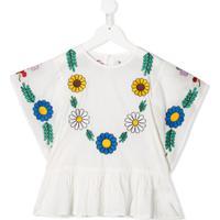 Stella Mccartney Kids Blusa Com Bordado Floral - Branco