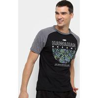 Camiseta Hd Raglan Branch Masculina - Masculino-Preto