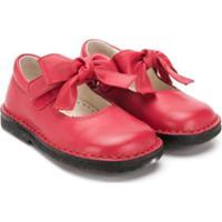 Il Gufo Bow Front Ballerina Pumps - Vermelho