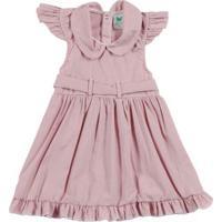 Vestido Infantil Para Bebê Menina - Rosa Claro