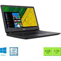 """Notebook 15.6"""" Acer Es1-572-3562 I3 4Gb/1Tb/Win10 Preto"""