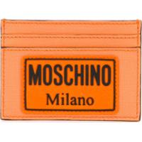 Moschino Logo Patch Card Holder - Laranja