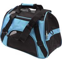 Bolsa Transporte Flexível Cães E Gatos Avião Azul M Lorben